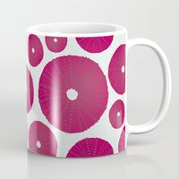 Sea's Design - Urchin Skeleton (Deep Pink) Mug