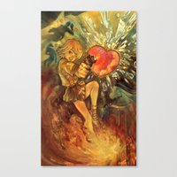 Straight To Your Heart! Canvas Print