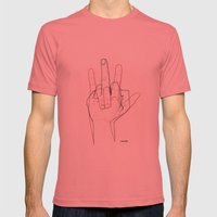 Love and Hate Mens Fitted Tee Pomegranate SMALL