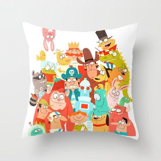 Storybook Gang Throw Pillow