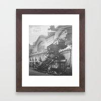 The Gare Montparnasse Train Accident  - France Framed Art Print
