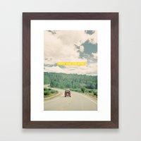 NEVER STOP EXPLORING - V… Framed Art Print