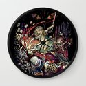Zombies in Wonderland Wall Clock