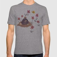 Hello Mole! Mens Fitted Tee Athletic Grey SMALL