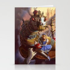 Sandra's Steampunk Alice in Wonderland Stationery Cards