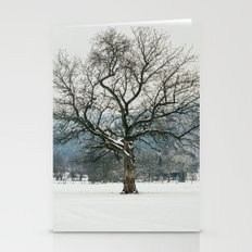 Tree In Winter Landscape Stationery Cards