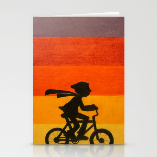 """Get Home Before Dark"" Stationery Card"
