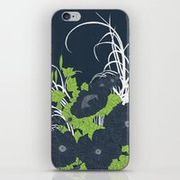 Midnight Flowers iPhone & iPod Skin