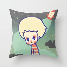 displaced person Throw Pillow