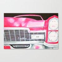 Pink Cadillac - Cotton C… Canvas Print