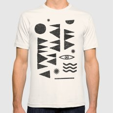 Tangential Paralysis. Mens Fitted Tee Natural SMALL