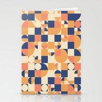Orange & Navy  Stationery Cards