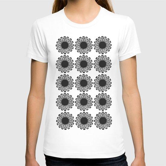 Vintage Flower_Black T-shirt