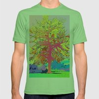 Color Tree Mens Fitted Tee Grass SMALL