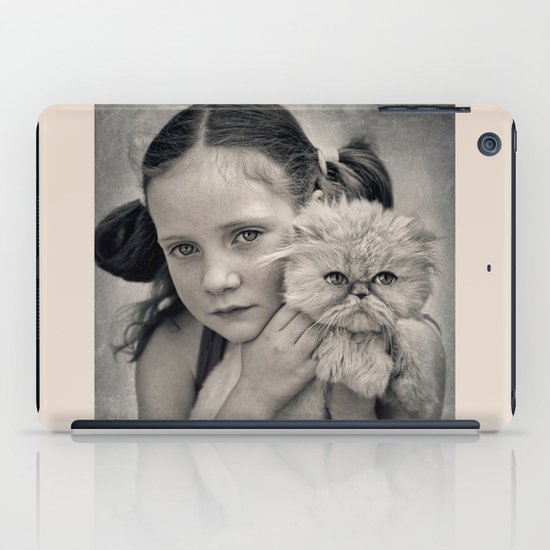 A Girl and her Cat iPad Case