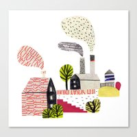 Small City Stories Canvas Print