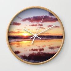 Sunset in Newport Beach Wall Clock