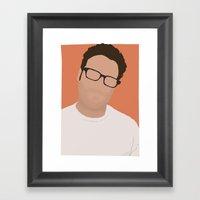 Seth Rogen Digital Portr… Framed Art Print