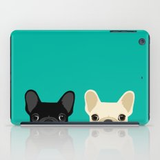 2 French Bulldogs iPad Case