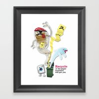 Recycled Paper Monsters Framed Art Print