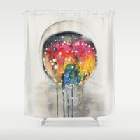 Somewhere in Space, I'm Dreaming Shower Curtain