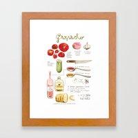 Illustrated Recipes: Gaz… Framed Art Print