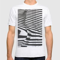 Stripes Mens Fitted Tee Ash Grey SMALL