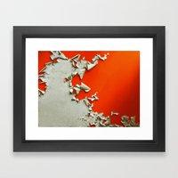 Orange Paper Peel Framed Art Print