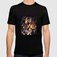Ghost in the Shell Mens Fitted Tee Black SMALL