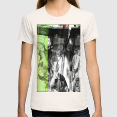 stop lookinf Womens Fitted Tee Natural SMALL