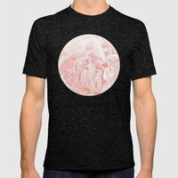 Peony Heart Mens Fitted Tee Tri-Black SMALL