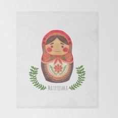 Matryoshka Doll Throw Blanket