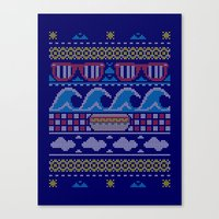 Ugly Summer Sweater Canvas Print