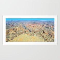 Grand Canyon West Aerial Panorama Art Print