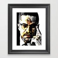 Malcom X Framed Art Print