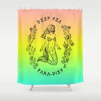 DEEP SEA PARA[DIES] Shower Curtain