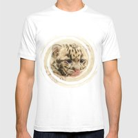 CUTE CLOUDED LEOPARD CUB Mens Fitted Tee White SMALL