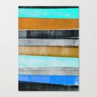 Press print on fabric stripes Canvas Print