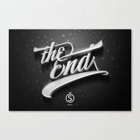 The End — Promotional artwork for Storefront, a font by Sudtipos.  Canvas Print