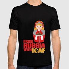 from Russia with loaf Black SMALL Mens Fitted Tee