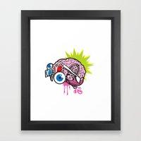 BRAIN-D! Framed Art Print