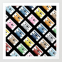 Rainbow Tapes 45 Art Print