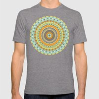 Mardi Gras Spin Mens Fitted Tee Tri-Grey SMALL