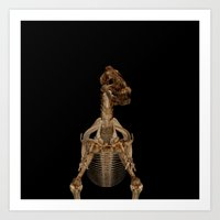 Dinosaur Skeleton All Over Print Art Print