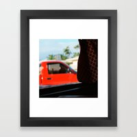 #jimmy`s Diner- Miami---… Framed Art Print
