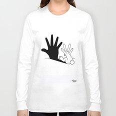 Rabbit Hand Shadow Long Sleeve T-shirt