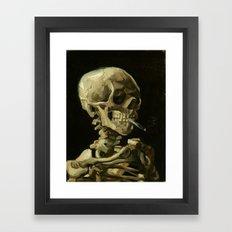 Skull Of A Skeleton With… Framed Art Print