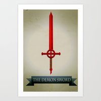Demon Sword Art Print