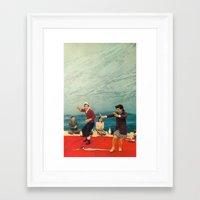 In the Soup Framed Art Print