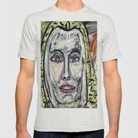 STAHMA  Mens Fitted Tee Silver SMALL